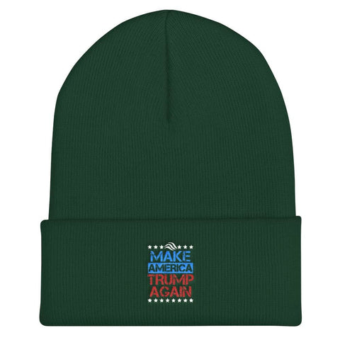 Image of Make America Trump Again Cuffed Beanie - Spruce