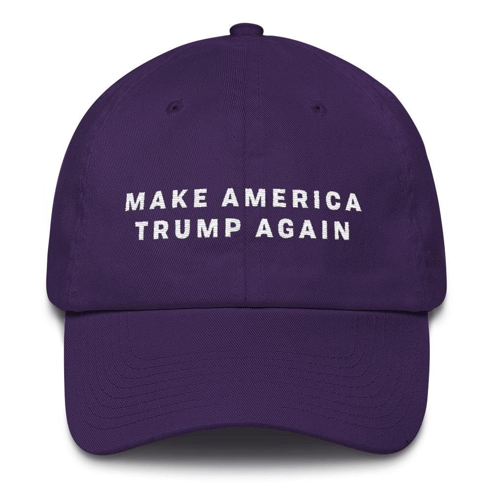 Make America Trump Again *MADE IN THE USA* Hat - Purple
