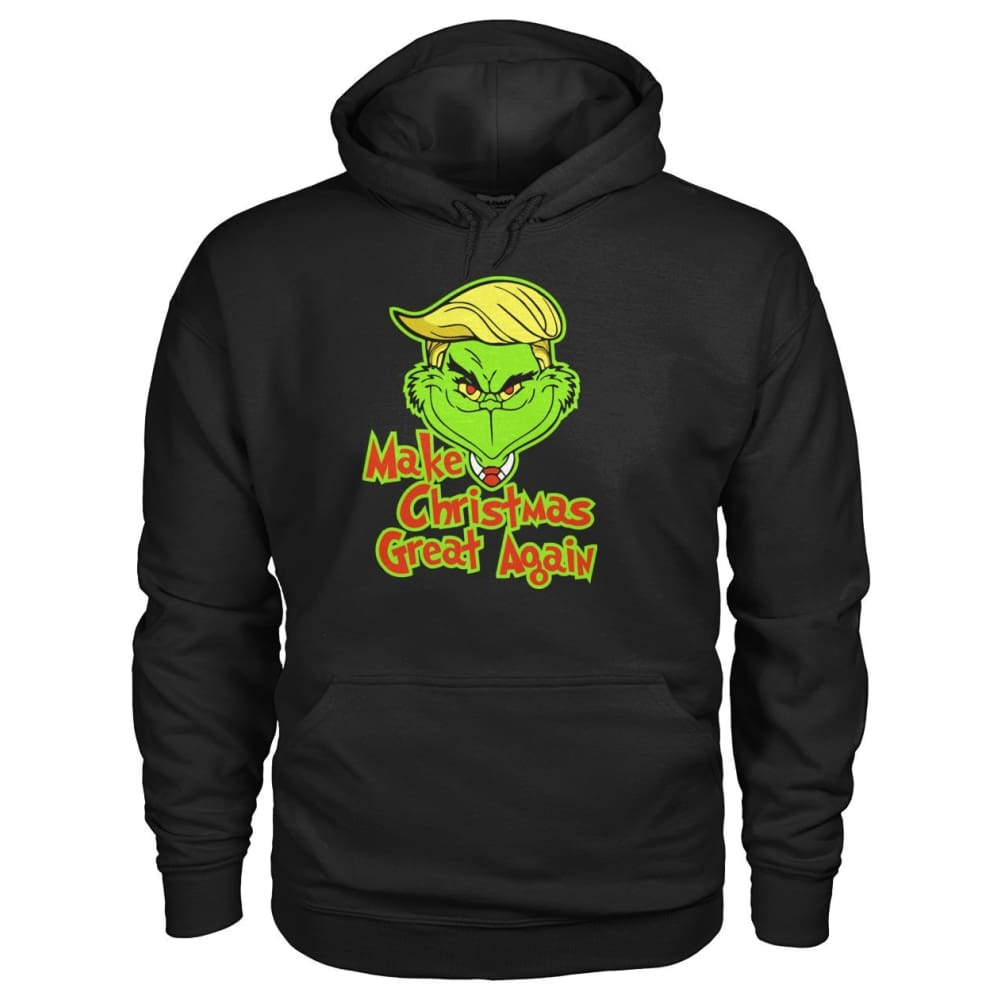 Make Christmas Great Again Hoodie - Black / S - Hoodies