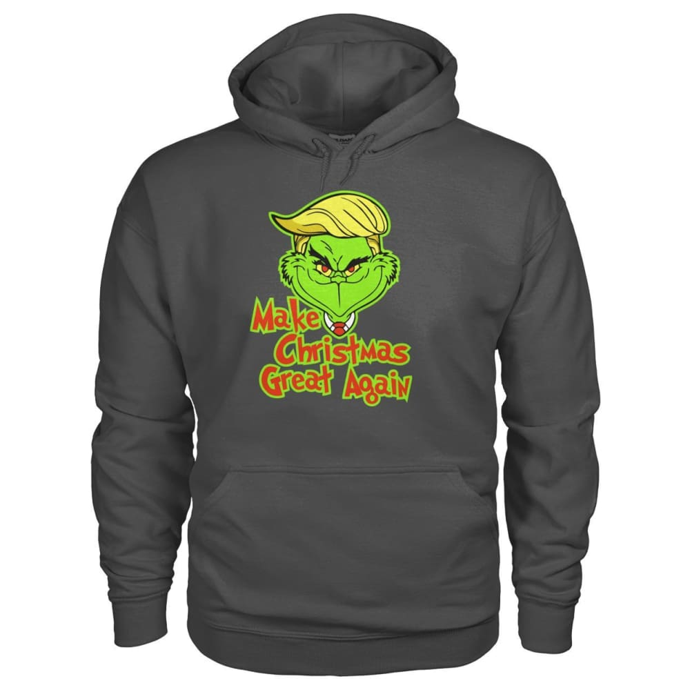 Make Christmas Great Again Hoodie - Charcoal / S - Hoodies