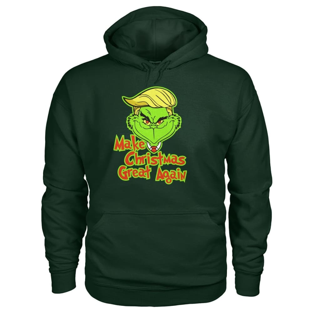 Make Christmas Great Again Hoodie - Forest Green / S - Hoodies