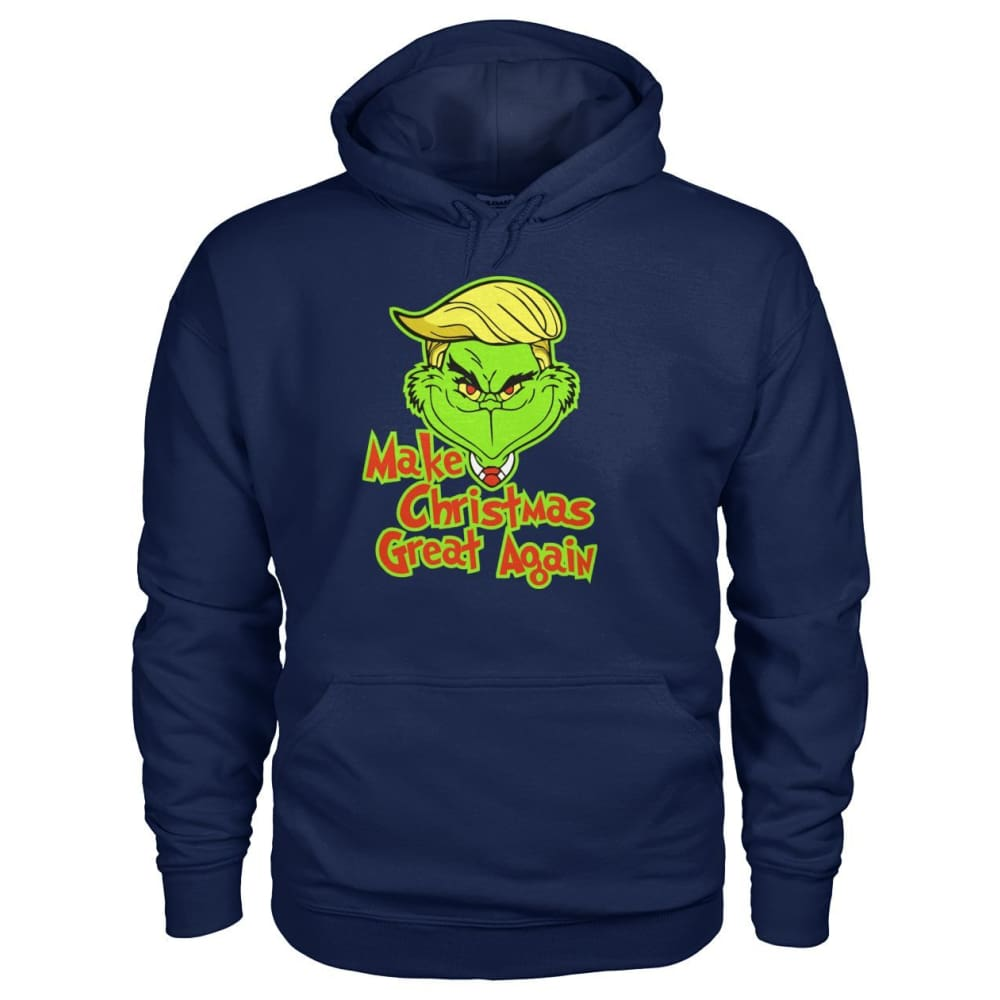 Make Christmas Great Again Hoodie - Navy / S - Hoodies