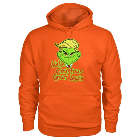 Image of Make Christmas Great Again Hoodie - Orange / S - Hoodies