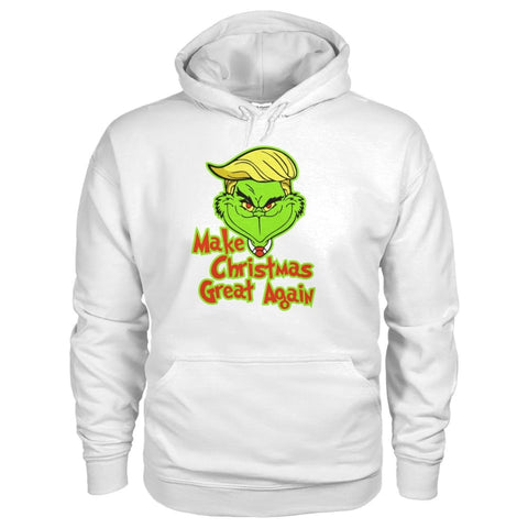 Image of Make Christmas Great Again Hoodie - White / S - Hoodies