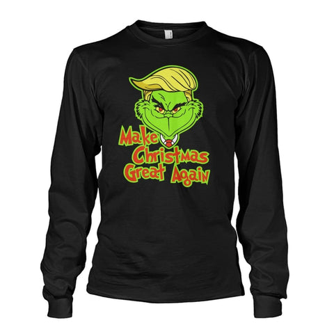 Image of Make Christmas Great Again Long Sleeve - Black / S / Unisex Long Sleeve - Long Sleeves