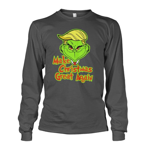 Image of Make Christmas Great Again Long Sleeve - Charcoal / S / Unisex Long Sleeve - Long Sleeves