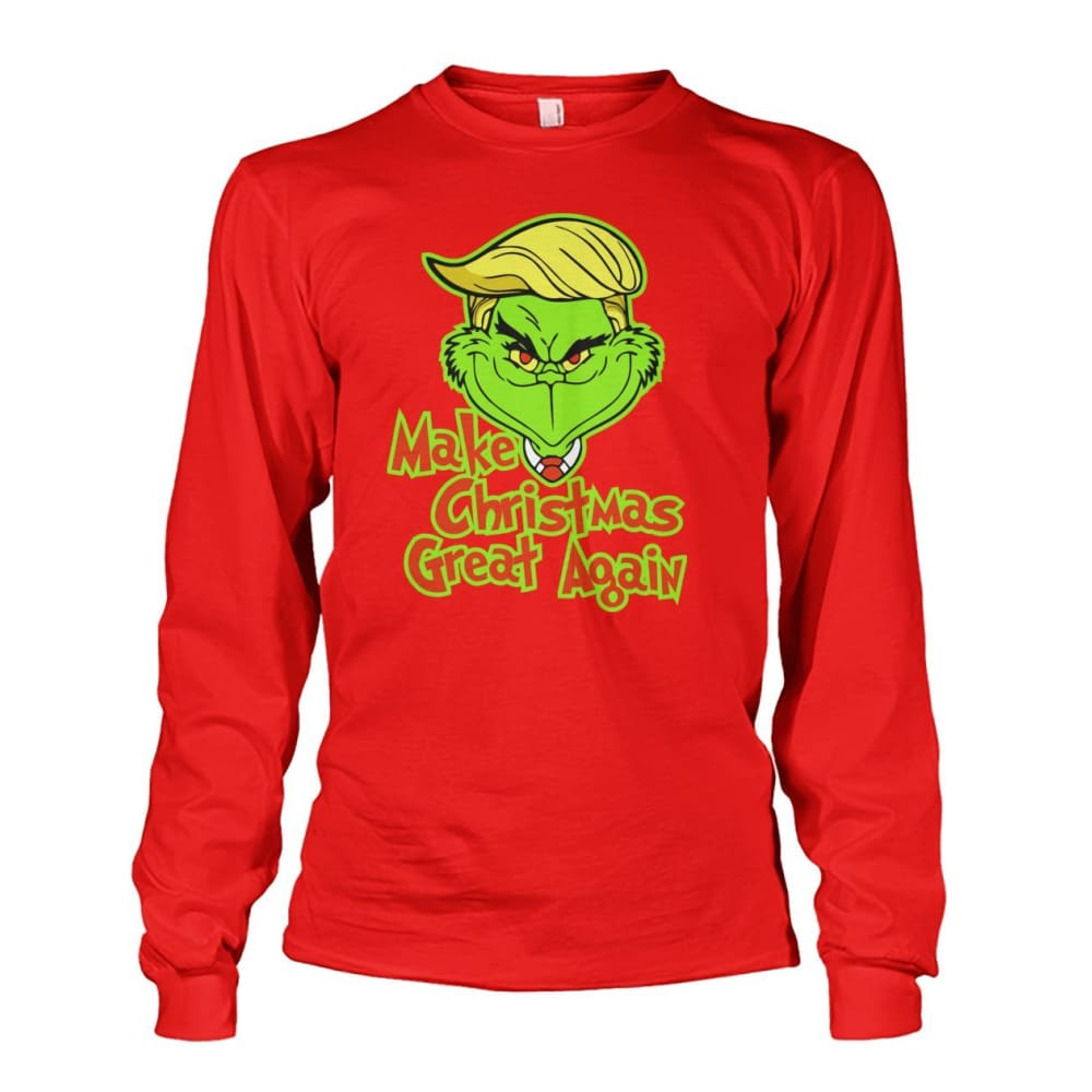 Make Christmas Great Again Long Sleeve - Red / S / Unisex Long Sleeve - Long Sleeves