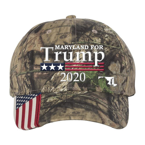 Maryland For Trump 2020 *MADE IN THE USA* Hat - Mossy Oak Country