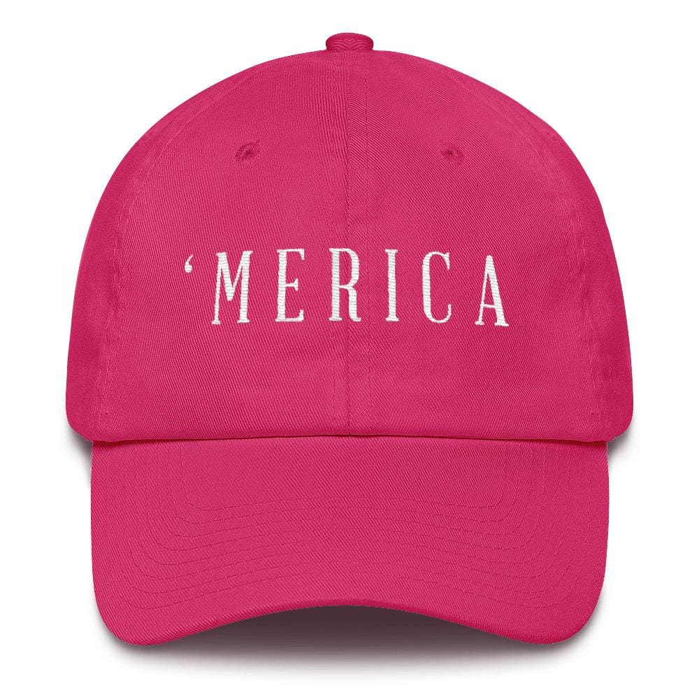 MERICA *MADE IN THE USA* Hat - Bright Pink