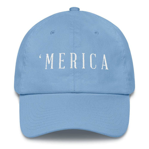 Image of MERICA *MADE IN THE USA* Hat - Carolina Blue