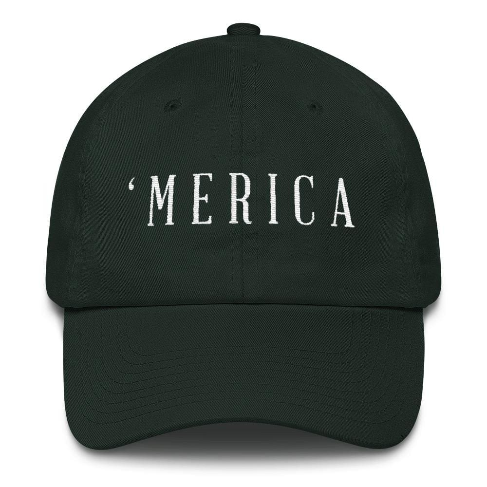MERICA *MADE IN THE USA* Hat - Forest Green