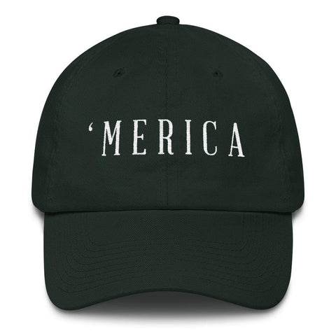 Image of MERICA *MADE IN THE USA* Hat - Forest Green