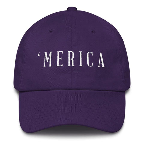 Image of MERICA *MADE IN THE USA* Hat - Purple