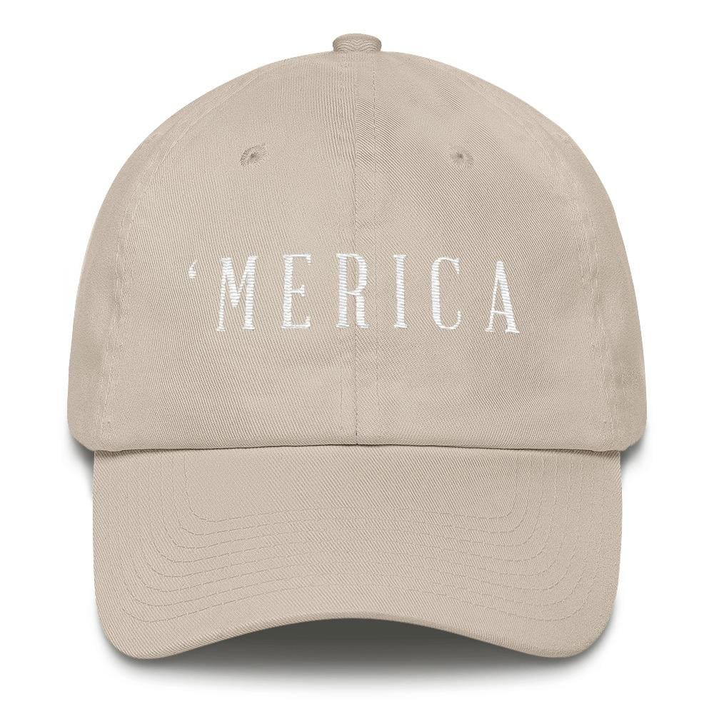 MERICA *MADE IN THE USA* Hat - Stone