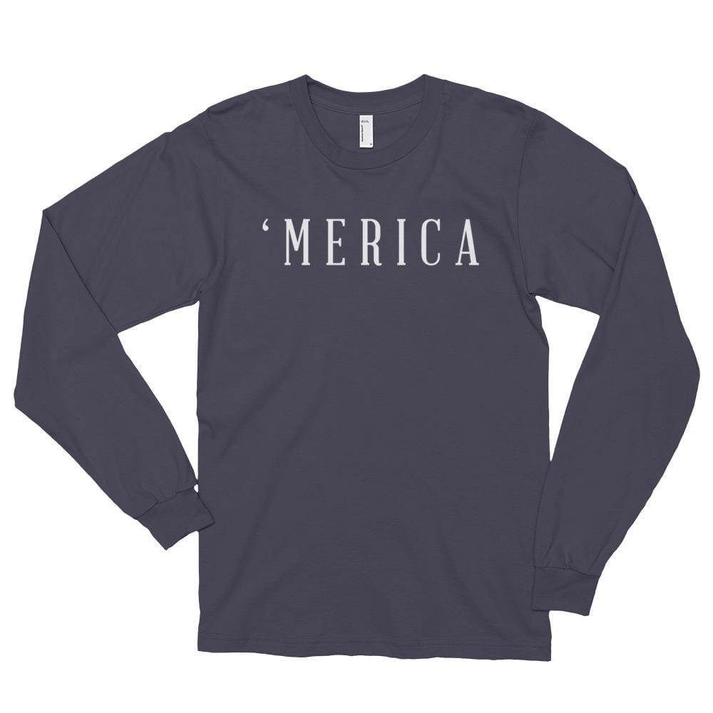MERICA *MADE IN THE USA* Unisex Long Sleeve T-shirt - Asphalt / S