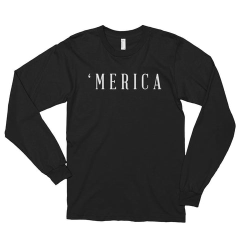 Image of MERICA *MADE IN THE USA* Unisex Long Sleeve T-shirt - Black / S