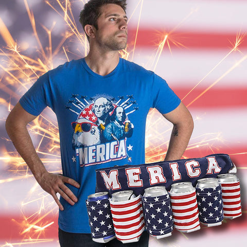 Image of Beverage Holder Beer Belt & 'Merica T-Shirt Bundle