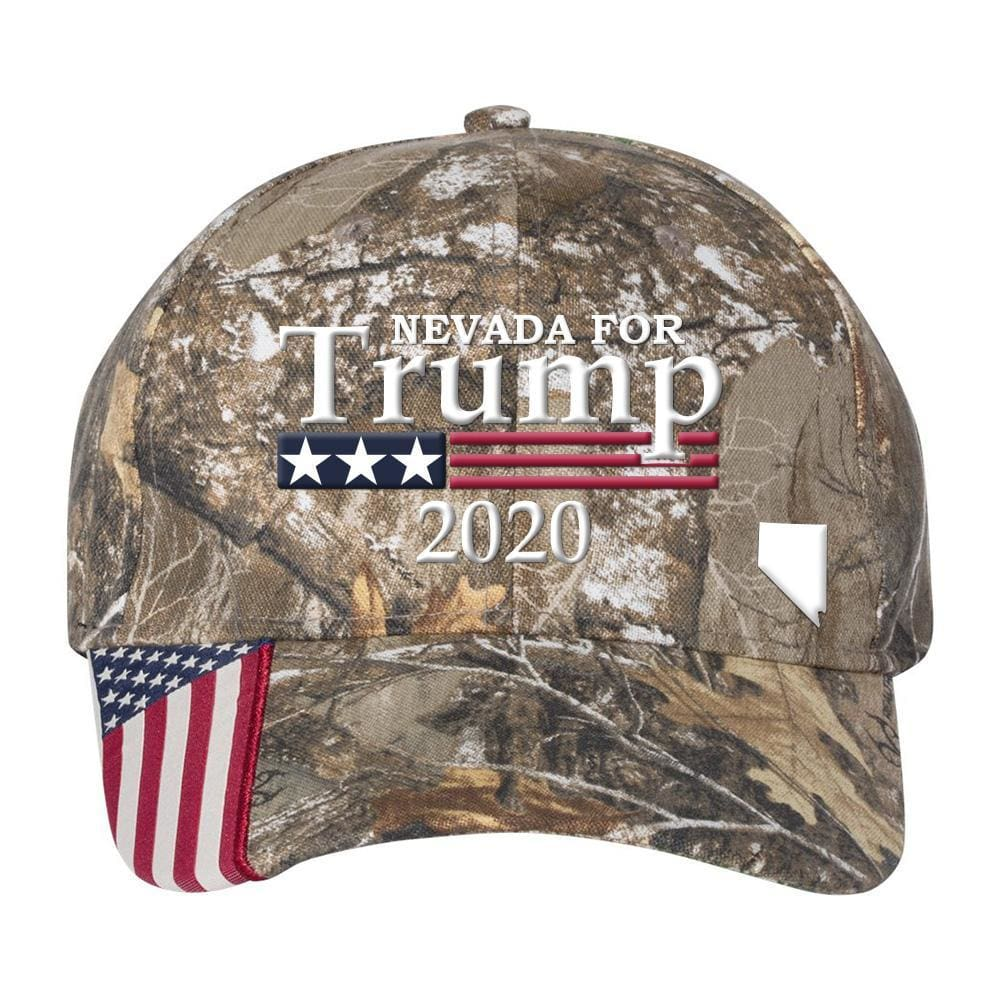 Nevada For Trump 2020 Hat - Realtree Edge