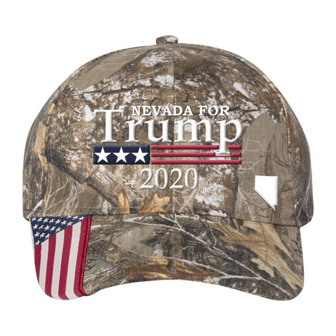 Image of Nevada For Trump 2020 Hat - Realtree Edge