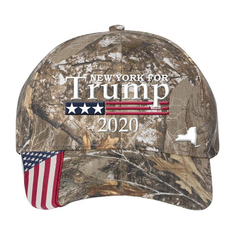 Image of New York For Trump 2020 Hat - Realtree Edge
