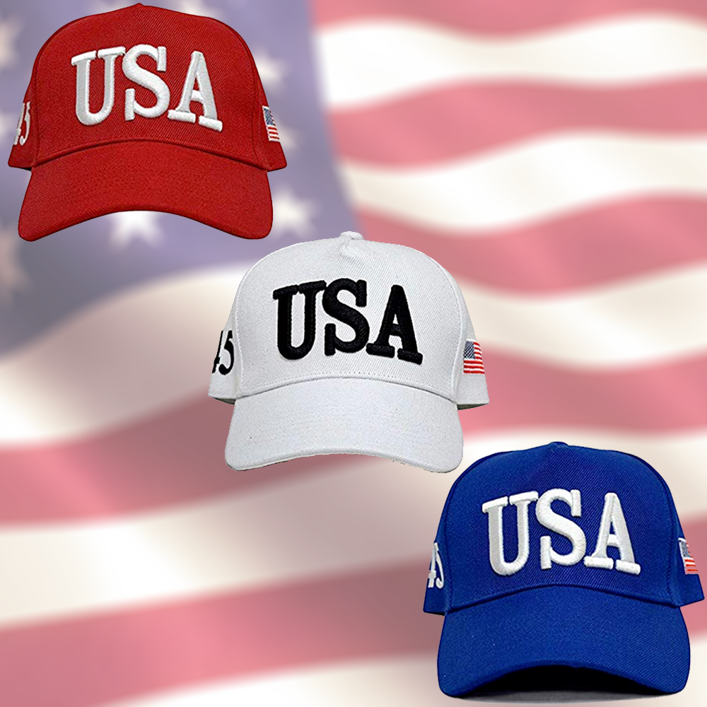 USA 45 Patriotic Hat 3-Pack (Save 25%)