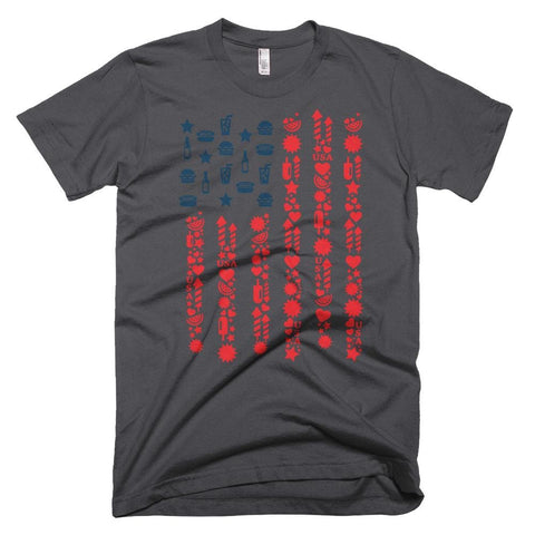 Image of Patriotic Flag *MADE IN THE USA* Unisex T-shirt - Asphalt / XS