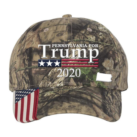 Image of Pennsylvania For Trump 2020 Hat - Mossy Oak Country