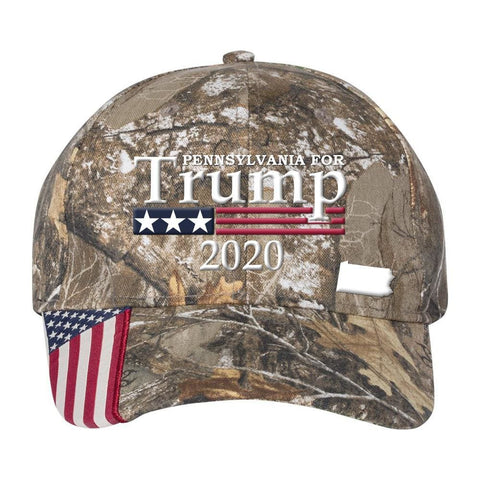 Image of Pennsylvania For Trump 2020 Hat - Realtree Edge