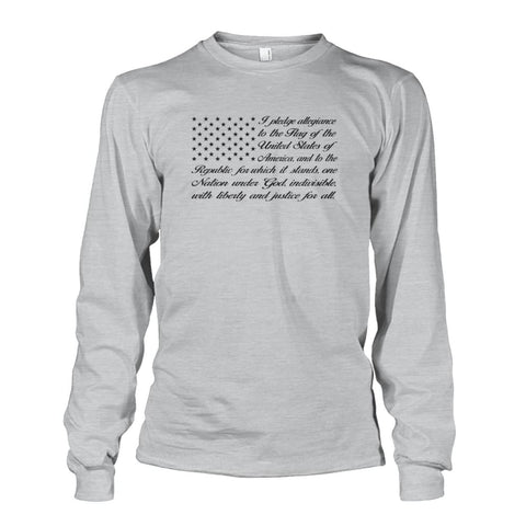 Image of Pledge of Allegiance Long Sleeve - Ash Grey / S / Unisex Long Sleeve - Long Sleeves