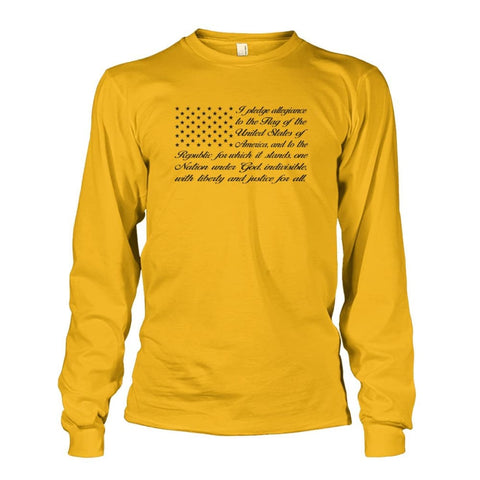 Image of Pledge of Allegiance Long Sleeve - Gold / S / Unisex Long Sleeve - Long Sleeves