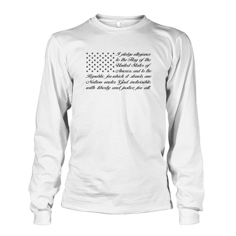 Image of Pledge of Allegiance Long Sleeve - White / S / Unisex Long Sleeve - Long Sleeves