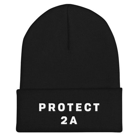 Protect The Second Cuffed Beanie - Navy