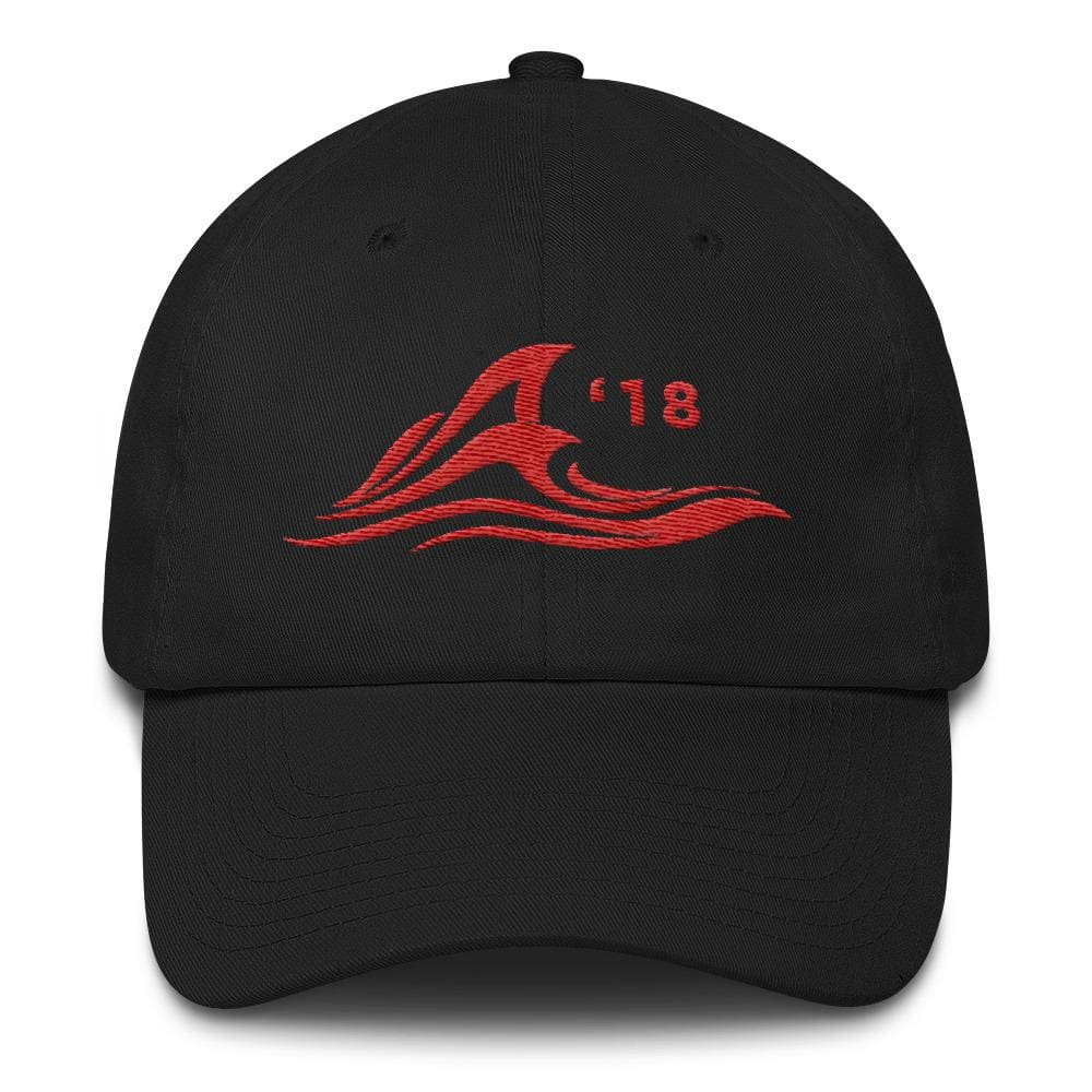 Red Wave *MADE IN THE USA* Hat - Black