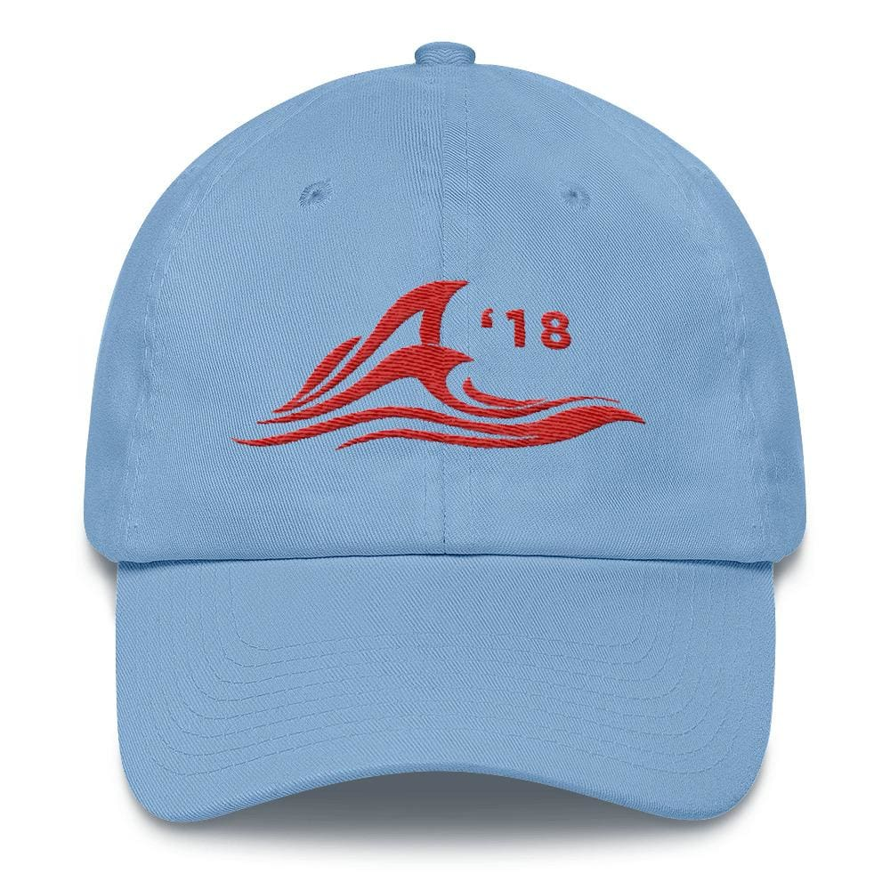 Red Wave *MADE IN THE USA* Hat - Carolina Blue