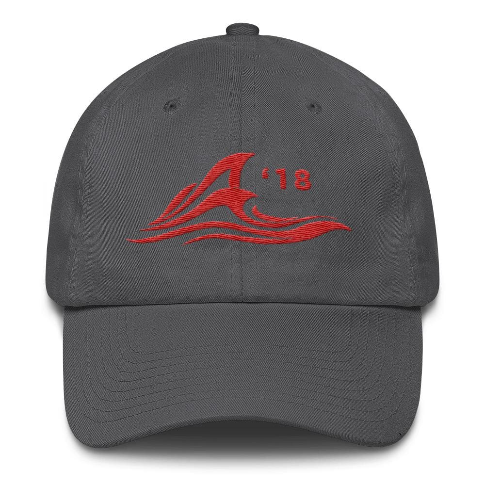 Red Wave *MADE IN THE USA* Hat - Charcoal