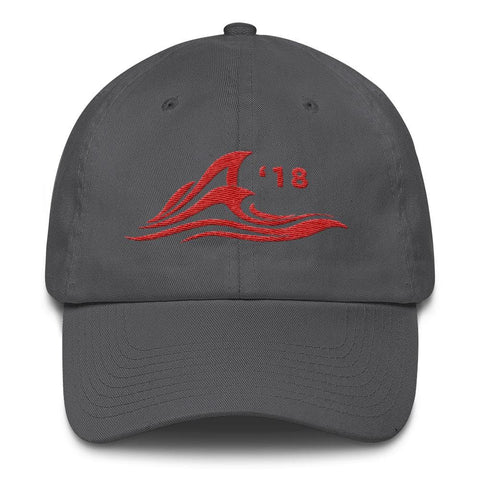 Image of Red Wave *MADE IN THE USA* Hat - Charcoal