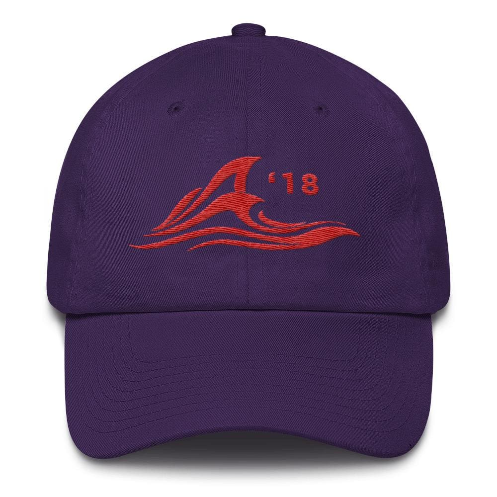 Red Wave *MADE IN THE USA* Hat - Purple