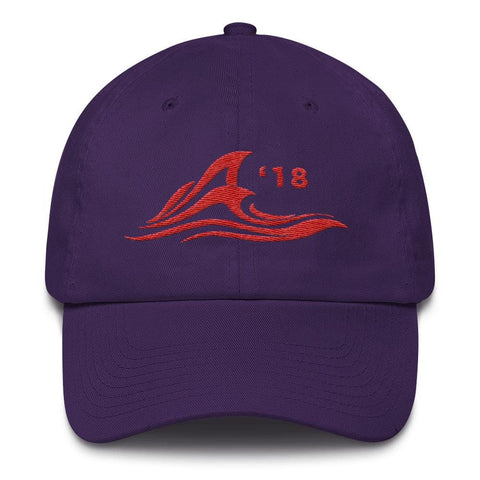 Image of Red Wave *MADE IN THE USA* Hat - Purple