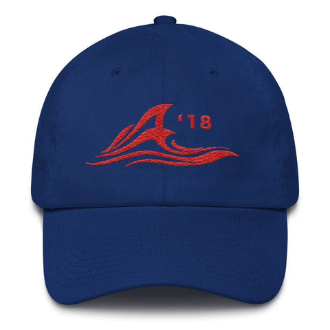 Image of Red Wave *MADE IN THE USA* Hat - Royal Blue
