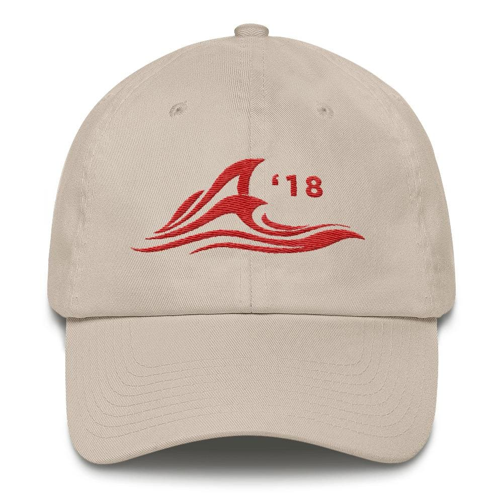 Red Wave *MADE IN THE USA* Hat - Stone