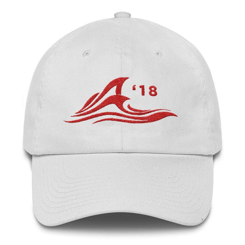 Red Wave *MADE IN THE USA* Hat - White