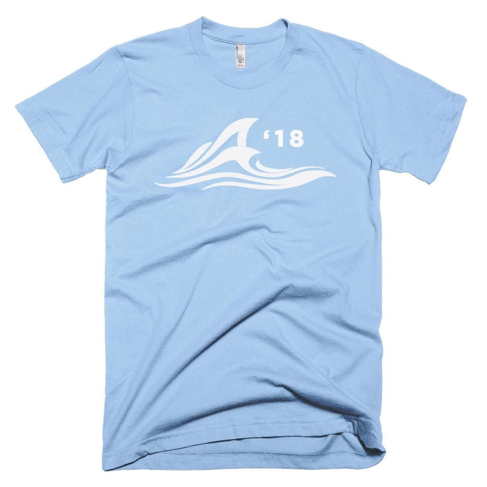 Red Wave *MADE IN THE USA* Unisex T-shirt - Baby Blue / XS