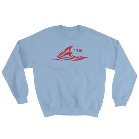 Image of Red Wave Sweatshirt - Light Blue / S
