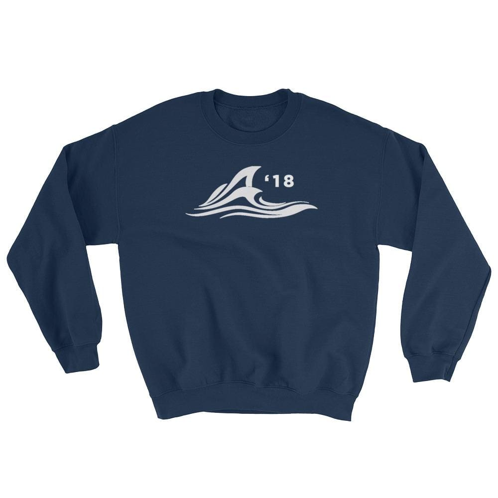 Red Wave Sweatshirt - Navy / S