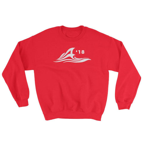 Image of Red Wave Sweatshirt - Red / S