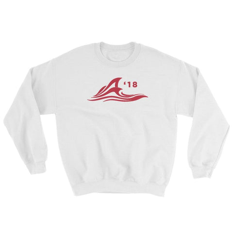 Image of Red Wave Sweatshirt - White / S