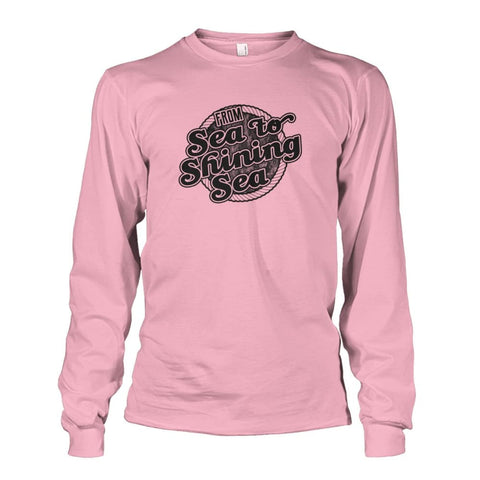 Image of Sea To Shining Sea Black Long Sleeve - Light Pink / S - Long Sleeves