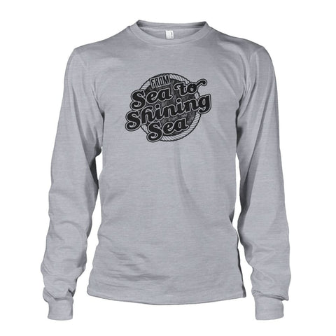 Image of Sea To Shining Sea Black Long Sleeve - Sports Grey / S - Long Sleeves