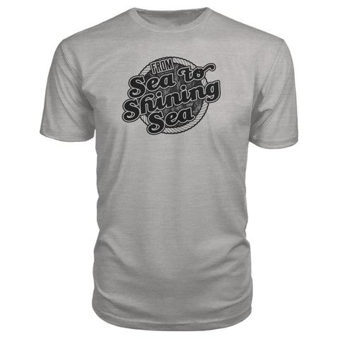 Image of Sea To Shining Sea Black Premium Tee - Heather Grey / S - Short Sleeves