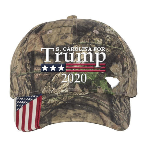 Image of South Carolina For Trump 2020 Hat - Mossy Oak Country